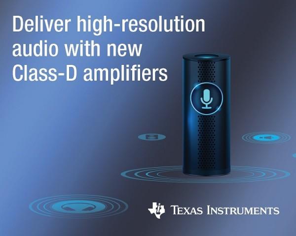 [TI 코리아] TI, 스마트 홈 오디오 설계에 적합한 클래스 D 증폭기 3종 출시.jpg