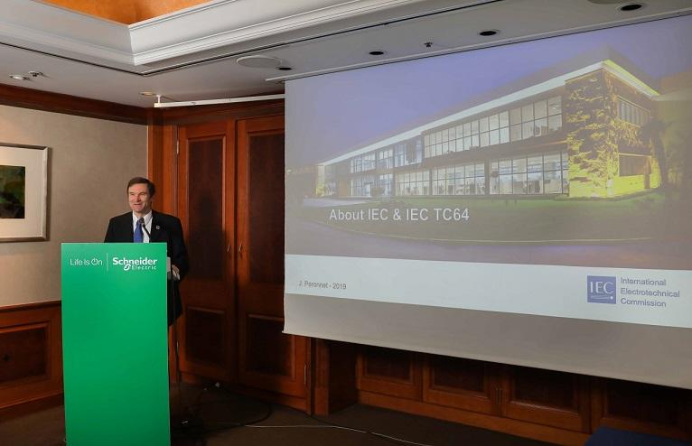 [사진자료1]슈나이더일렉트릭이 2021년1월부터 시행되는 KEC도입을 압두고 IEC 60364및 KEC기자간담회를 개최했다 (1)....jpg